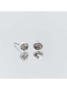 """Cercei din argint """"meteoriti"""" cu zirconi..."""