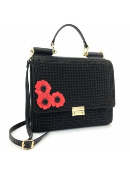 Geanta Duccessa Royal Black Poppy