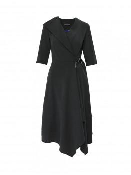 Rochie neagra cu catarama