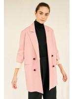 Blazer roz oversize