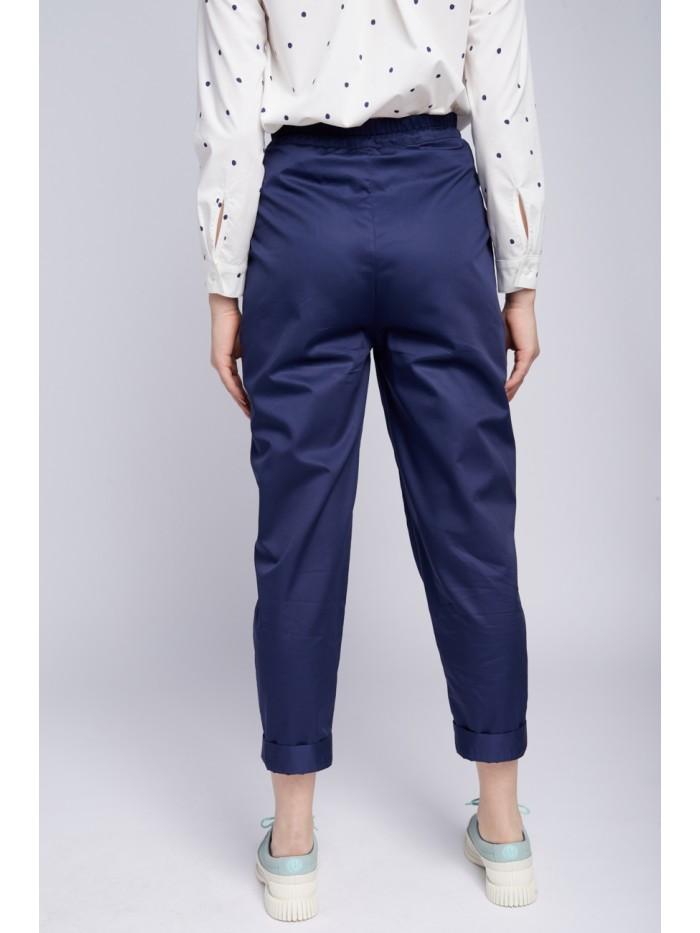 Pantaloni dama din poplin