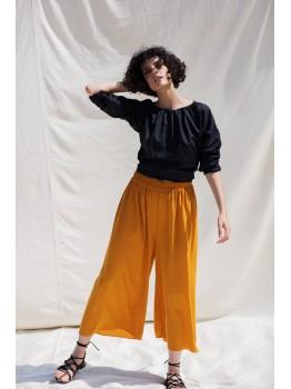 Pantalon mustar tip culottes