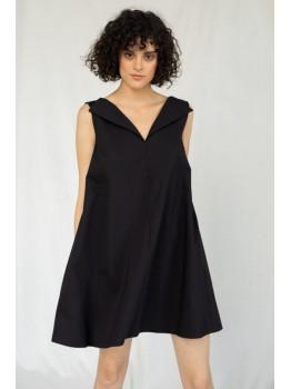 Rochie midi din bumbac negru