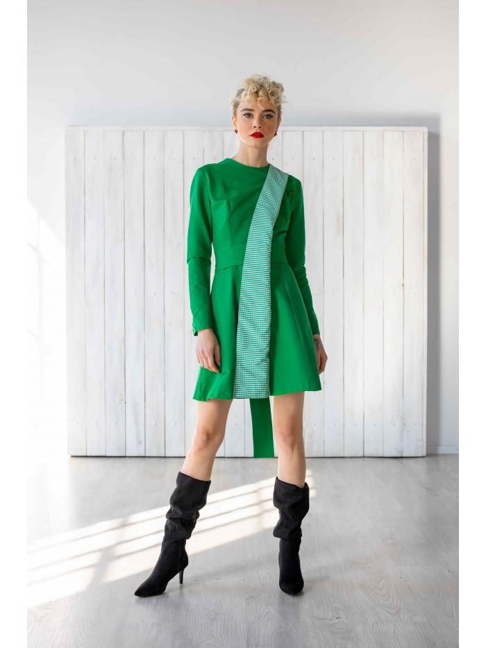 Rochie verde retro