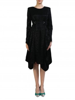 Rochie neagra din vascoza