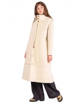 Palton Raglan Wool Alb