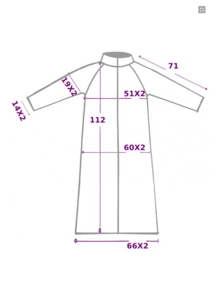 Palton Raglan Stripe