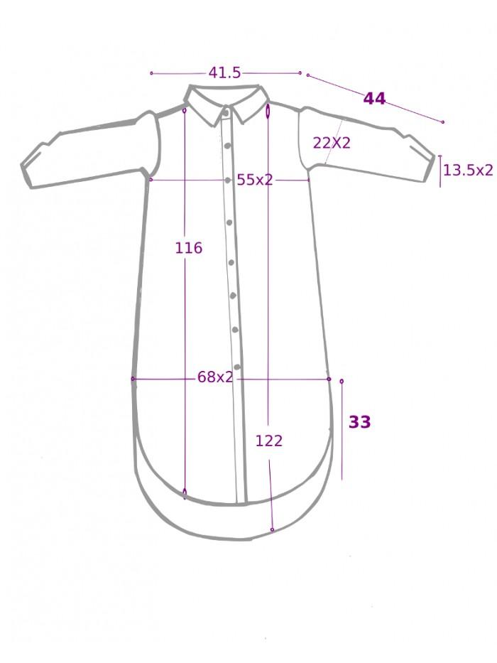 Rochie camasa supradimensionata